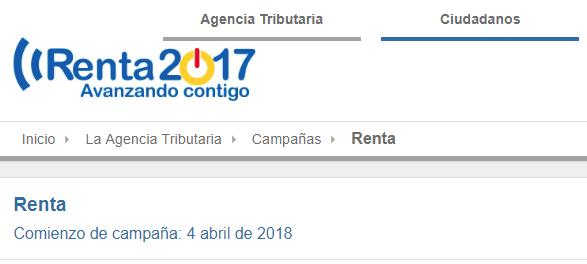 CAMPAÑA DE RENTA 2017
